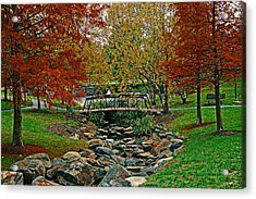 Acrylic Print featuring the photograph Autumn Bridge by Andy Lawless