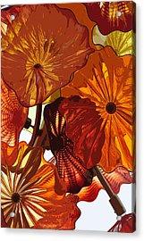 Acrylic Print featuring the digital art Autumn Burst by Kirt Tisdale