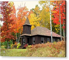 Acrylic Print featuring the photograph Autumn Chapel by Elaine Franklin