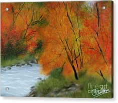Autumn Acrylic Print by Chitra Helkar