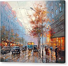 Autumn Cityscape Acrylic Print