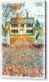 Autumn Colonial Splendor Acrylic Print by Edward Fielding