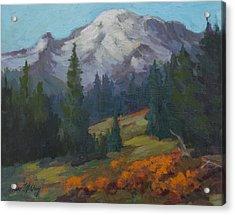 Autumn Color At Mount Rainier Acrylic Print
