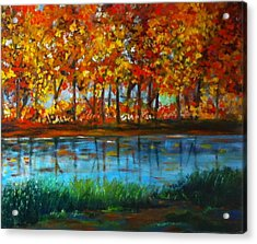 Autumn Colors Acrylic Print by B Russo