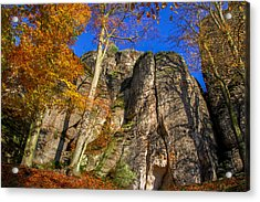 Autumn Colors In The Saxon Switzerland Acrylic Print