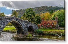 Autumn Cottage Acrylic Print by Adrian Evans