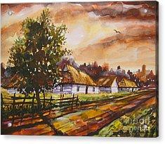 Autumn Cottages Acrylic Print