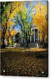 Autumn Courthouse Lawn Acrylic Print