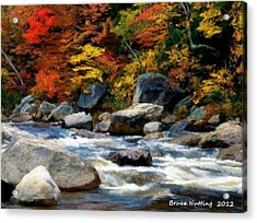 Acrylic Print featuring the painting Autumn Creek by Bruce Nutting