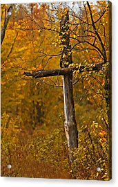 Autumn Cross Acrylic Print