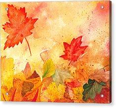 Autumn Dance Acrylic Print by Irina Sztukowski
