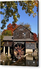 Autumn Day At The Old Mill Acrylic Print by John Saunders
