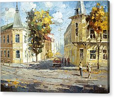 Acrylic Print featuring the painting Autumn Day by Dmitry Spiros