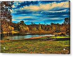 Autumn Day On The River Acrylic Print