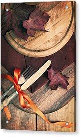 Autumn Dining Acrylic Print by Amanda Elwell