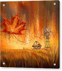 Autumn Dreams- Autumn Impressionism Paintings Acrylic Print