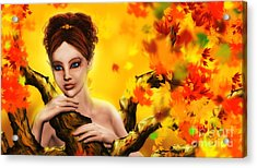 Autumn Elf Princess Acrylic Print