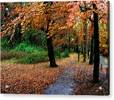 Autumn Entrance To Muckross House Killarney Acrylic Print