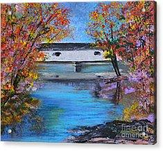 Autumn Evening Acrylic Print by Alys Caviness-Gober