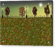 Autumn Evening Flowers Acrylic Print