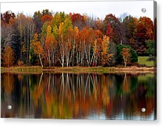 Autumn Evening On Rose Valley Lake Acrylic Print