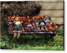 Autumn - Family Reunion Acrylic Print by Mike Savad
