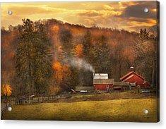 Autumn - Farm - Morristown Nj - Charming Farming Acrylic Print by Mike Savad
