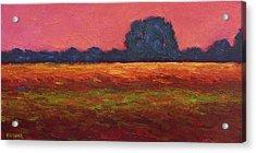 Autumn Field Dusk Acrylic Print