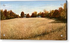 Acrylic Print featuring the painting Autumn Field Southern Maryland by G Linsenmayer