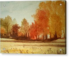 Autumn Fields New Jersey Acrylic Print
