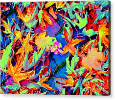Autumn Fiesta Acrylic Print by Ann Johndro-Collins