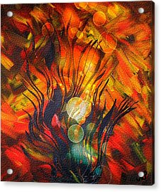 Autumn Fire By Nico Bielow Acrylic Print