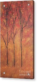 Acrylic Print featuring the painting Autumn Fire by Christie Minalga