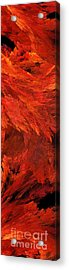 Autumn Fire Pano 2 Vertical Acrylic Print by Andee Design