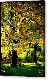 Acrylic Print featuring the photograph Autumn Firestorm by Wayne King