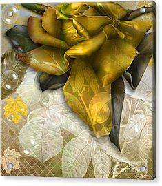 Acrylic Print featuring the digital art Autumn Flower by Eleni Mac Synodinos