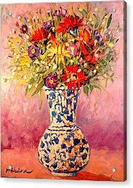 Autumn Flowers Acrylic Print by Ana Maria Edulescu