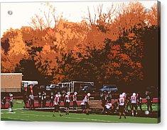 Autumn Football With Cutout Effect Acrylic Print by Frank Romeo