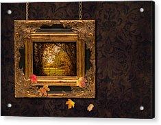 Autumn Frame Acrylic Print by Amanda Elwell