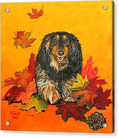 Autumn Fun Acrylic Print by Wendy Shoults