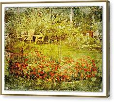 Autumn Garden Acrylic Print by Dianne  Lacourciere