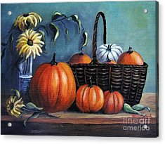 Acrylic Print featuring the painting Autumn Gifts by Vesna Martinjak