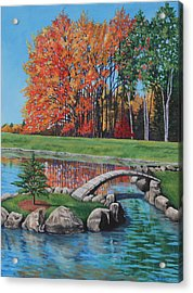 Acrylic Print featuring the painting Autumn Glory At The Arboretum by Penny Birch-Williams