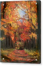 Acrylic Print featuring the painting Autumn Glow by Mary Lynne Powers