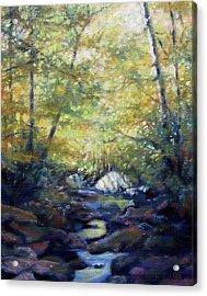 Autumn Gold Acrylic Print by Bonnie Mason