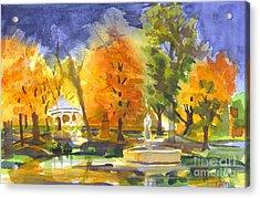 Autumn Gold Acrylic Print by Kip DeVore