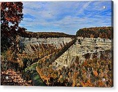 Autumn Gorge Acrylic Print by David Stine