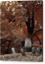 Autumn Graveyard Acrylic Print by Gothicrow Images
