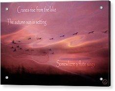 Autumn Haiku Acrylic Print by Gun Legler