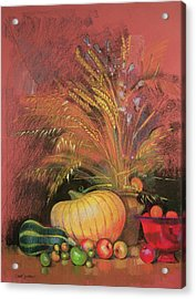 Autumn Harvest Acrylic Print by Claire Spencer